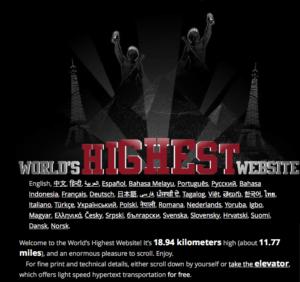 The World's Highest Website