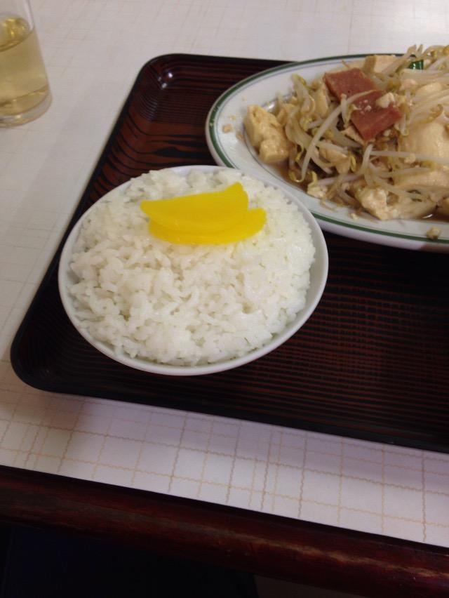 豆腐チャンプルーのご飯