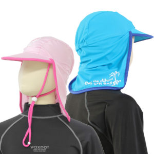 首まで覆う帽子